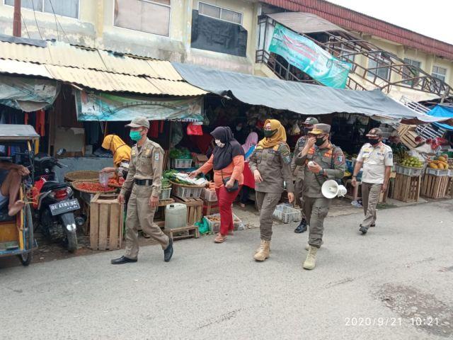 Tibum Blok Disiplin Prokes di Pasar Induk Pringsewu
