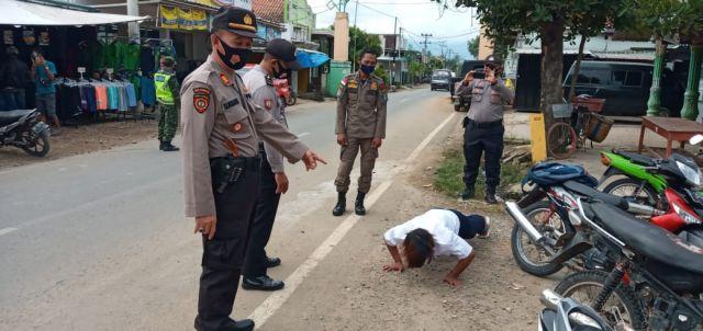 Operasi Yustisi Disiplin Prokes di Pasar Pujodadi