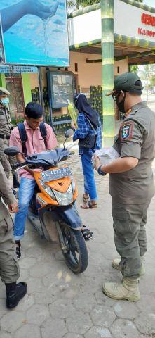 Operasi Yustisi Prokes di Pendopo Pringsewu
